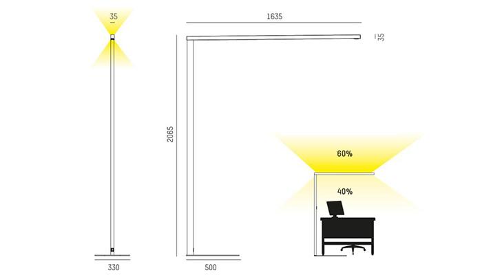 Lens F lighting Digram